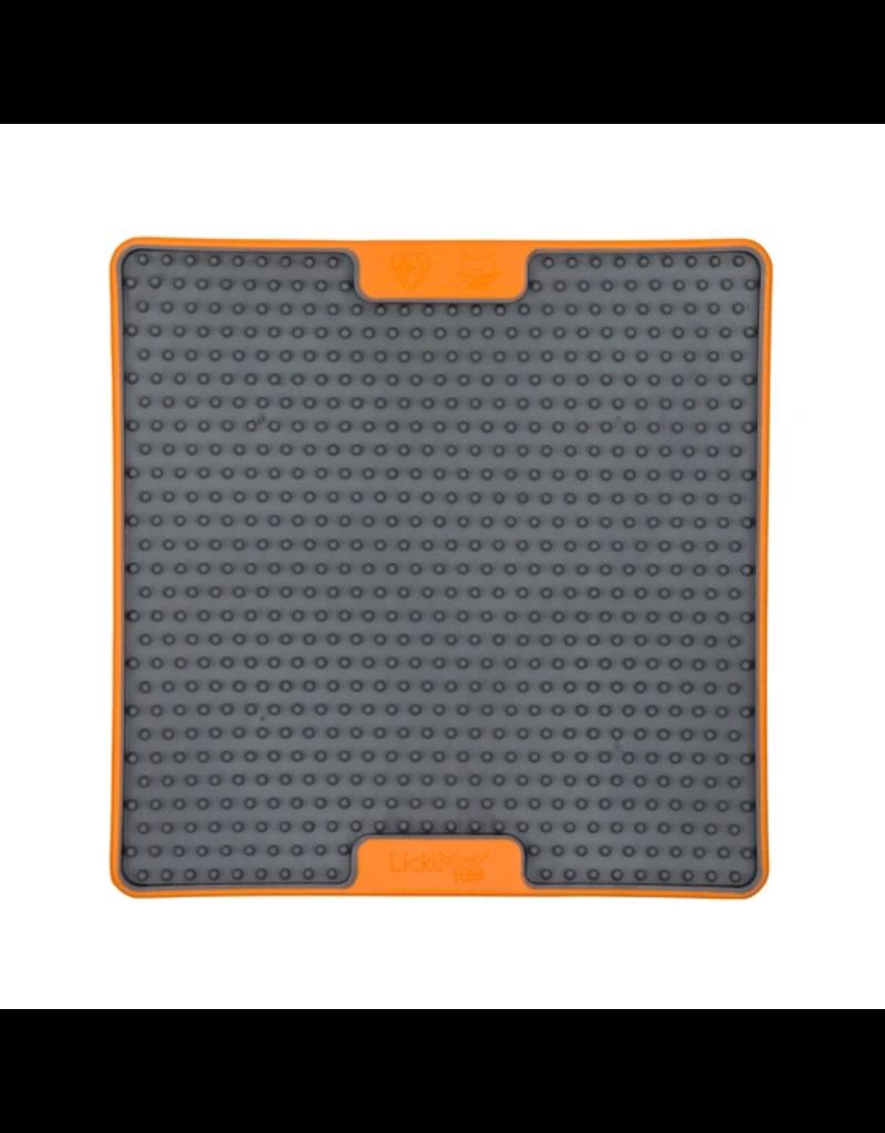 LickiMat Lickimat Tuff Series Interactive Feeder   Soother Orange