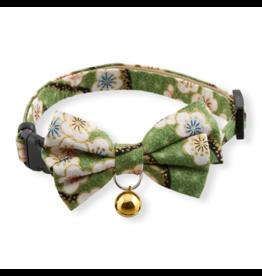 Necoichi Necoichi Cat Collar | Hanami Bow Tie Green