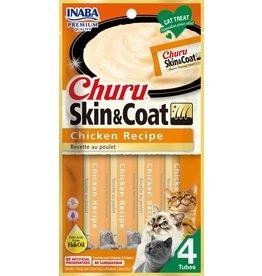 Inaba Inaba Cat Churu Puree Skin & Coat | Chicken Recipe 4 pk