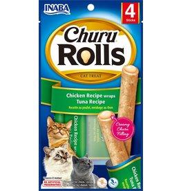 Inaba Inaba Cat Churu Rolls | Chicken & Tuna Recipe 4 pk