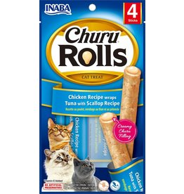Inaba Inaba Cat Churu Rolls | Chicken, Tuna & Scallop Recipe 4 pk