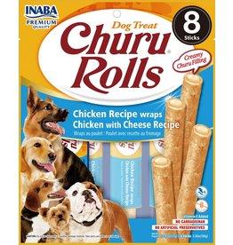 Inaba Inaba Dog Churu Rolls | Chicken & Cheese Recipe 8 pk