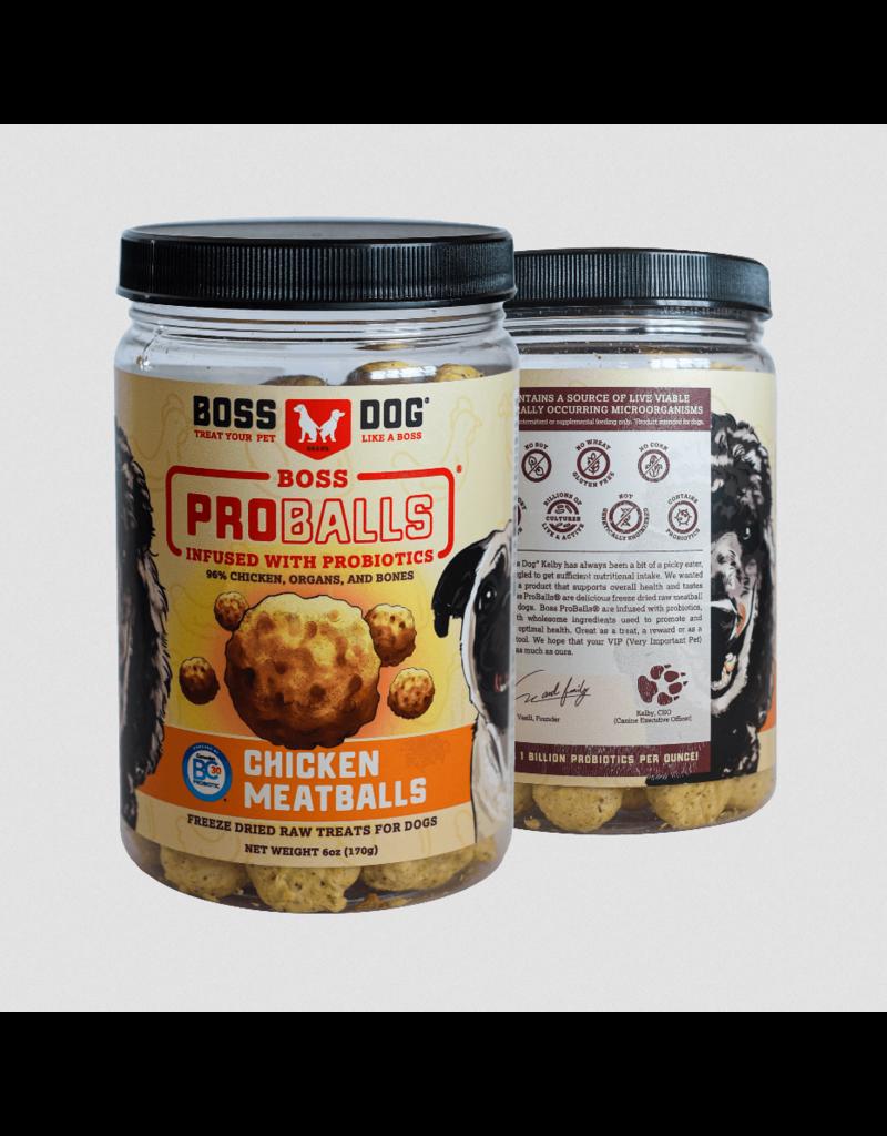 Boss Dog Brand Boss Dog Pro Ball Dog Treats | Chicken 3 oz