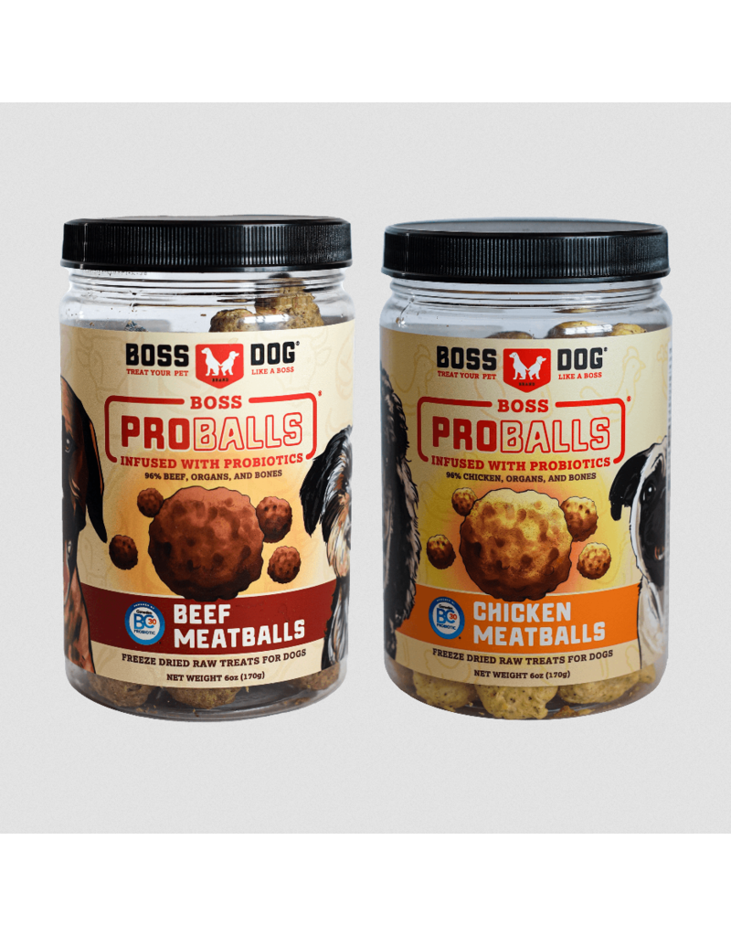 Boss Dog Brand Boss Dog Pro Ball Dog Treats | Beef 6 oz