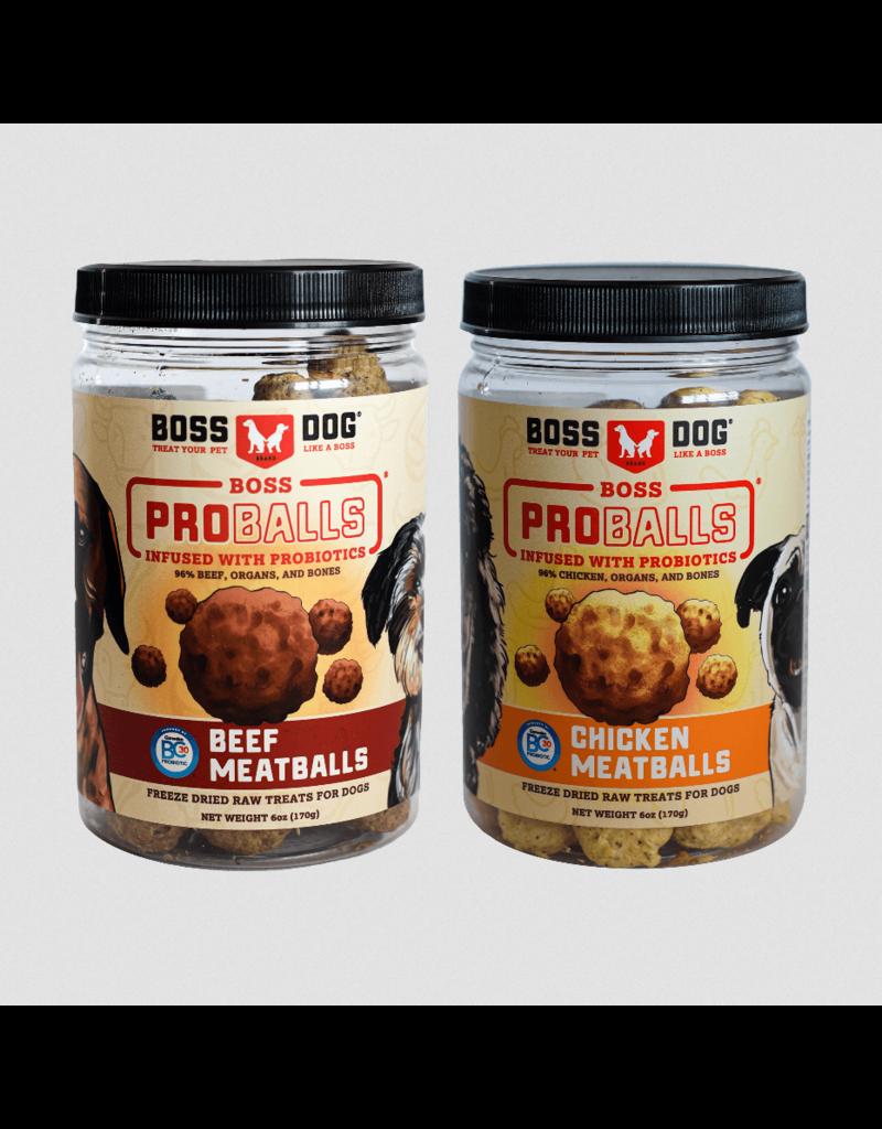 Boss Dog Brand Boss Dog Pro Ball Dog Treats | Beef 3 oz