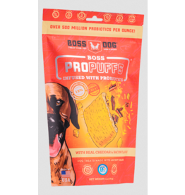 Boss Dog Brand Boss Dog Pro Puffs Dog Treats | Cheddar & Bacon  6 oz