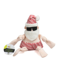 HuggleHounds HuggleHounds 2021 Holiday Peppermint Collection | Beach Bum Santa Large