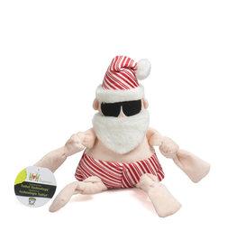 HuggleHounds HuggleHounds 2021 Holiday Peppermint Collection | Beach Bum Santa Small