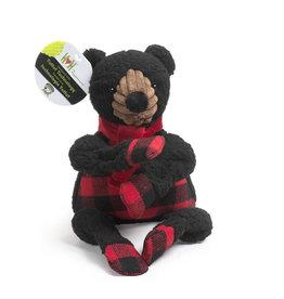 HuggleHounds HuggleHounds 2021 Holiday Fireside Collection | Black Bear Knottie Small