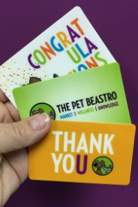 Get Carded at The Pet Beastro!