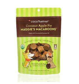 CoCo Therapy Coco Therapy Dog Treats Macaroons Coconut Apple Pie 4 oz