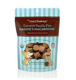 CoCo Therapy Coco Therapy Dog Treats Macaroons Coconut Vanilla Flax 4 oz