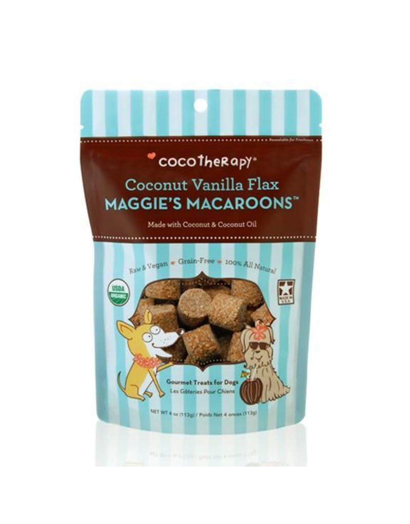 CoCo Therapy Coco Therapy Dog Treats 4 oz Macaroons Coconut Vanilla Flax