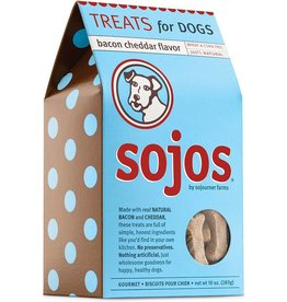 Sojo's Sojos Crunchy Dog Treats 10 oz Bacon & Cheddar