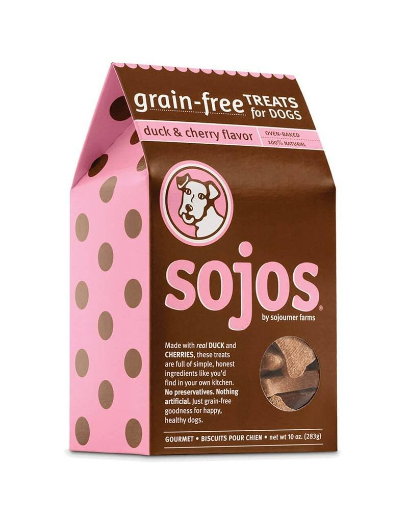 Sojo's Sojos Crunchy Dog Treats 10 oz Duck & Cherry