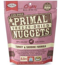 Primal Pet Foods Primal Freeze Dried Dog Nuggets Turkey & Sardine 5.5 oz