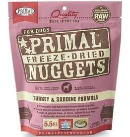 Primal Primal Freeze Dried Dog Nuggets 5.5 oz  Turkey & Sardine