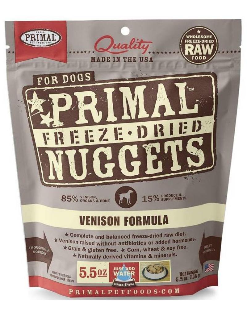 Primal Primal Freeze Dried Dog Nuggets 5.5 oz  Venison