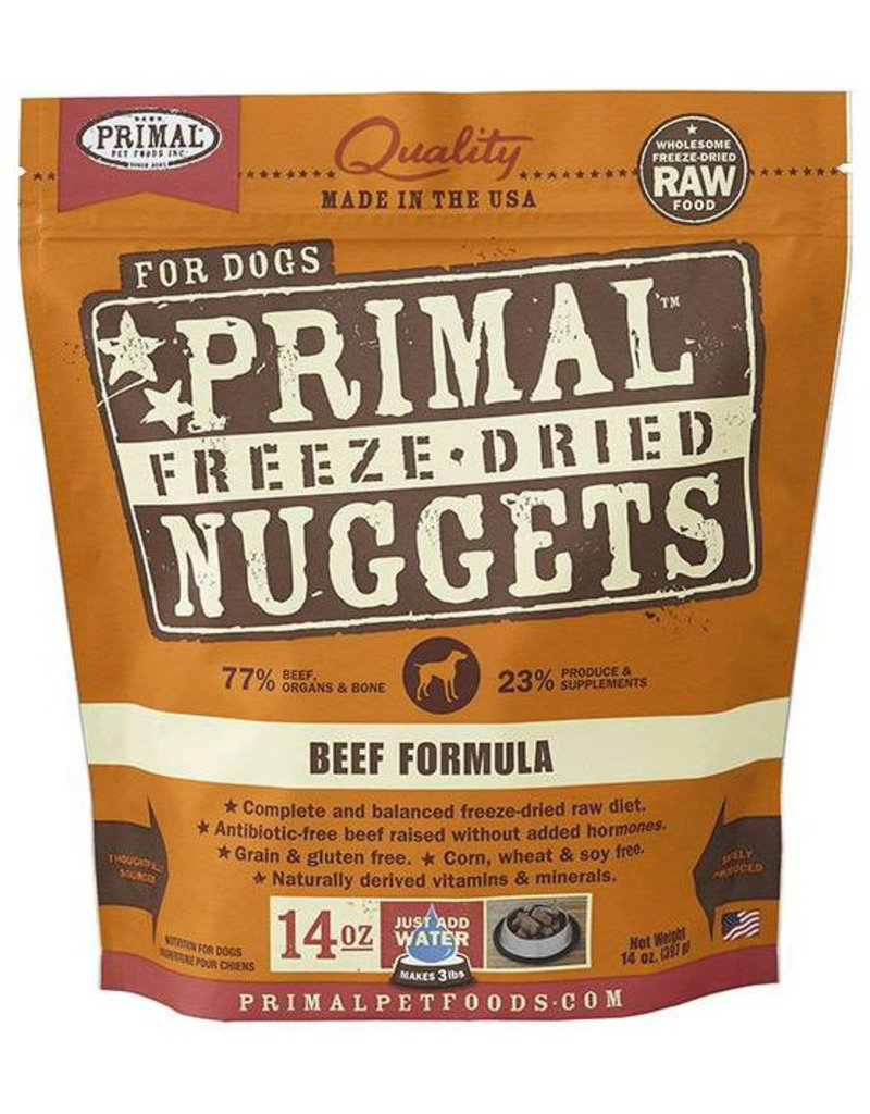 Primal Primal Freeze Dried Dog Nuggets 14 oz Beef