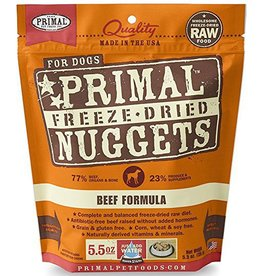 Primal Pet Foods Primal Freeze Dried Dog Nuggets Beef 5.5 oz