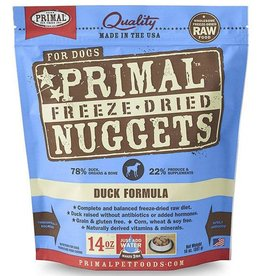 Primal Primal Freeze Dried Dog Nuggets 14 oz Duck