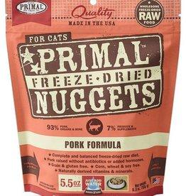 Primal Primal Freeze Dried Cat Nuggets 5.5 oz  Pork