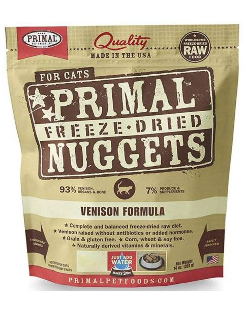 Primal Primal Freeze Dried Cat Nuggets 5.5 oz  Venison