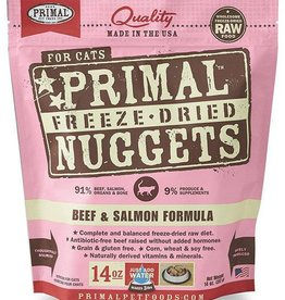 Primal Primal Freeze-Dried Cat Nuggets 14 oz Beef & Salmon