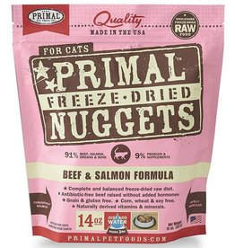 Primal Pet Foods Primal Freeze-Dried Cat Nuggets Beef & Salmon 14 oz