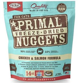 Primal Pet Foods Primal Freeze Dried Cat Nuggets | Chicken & Salmon 14 oz