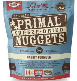 Primal Primal Freeze-Dried Cat Nuggets 14 oz Rabbit