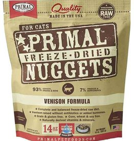Primal Primal Freeze-Dried Cat Nuggets 14 oz Venison