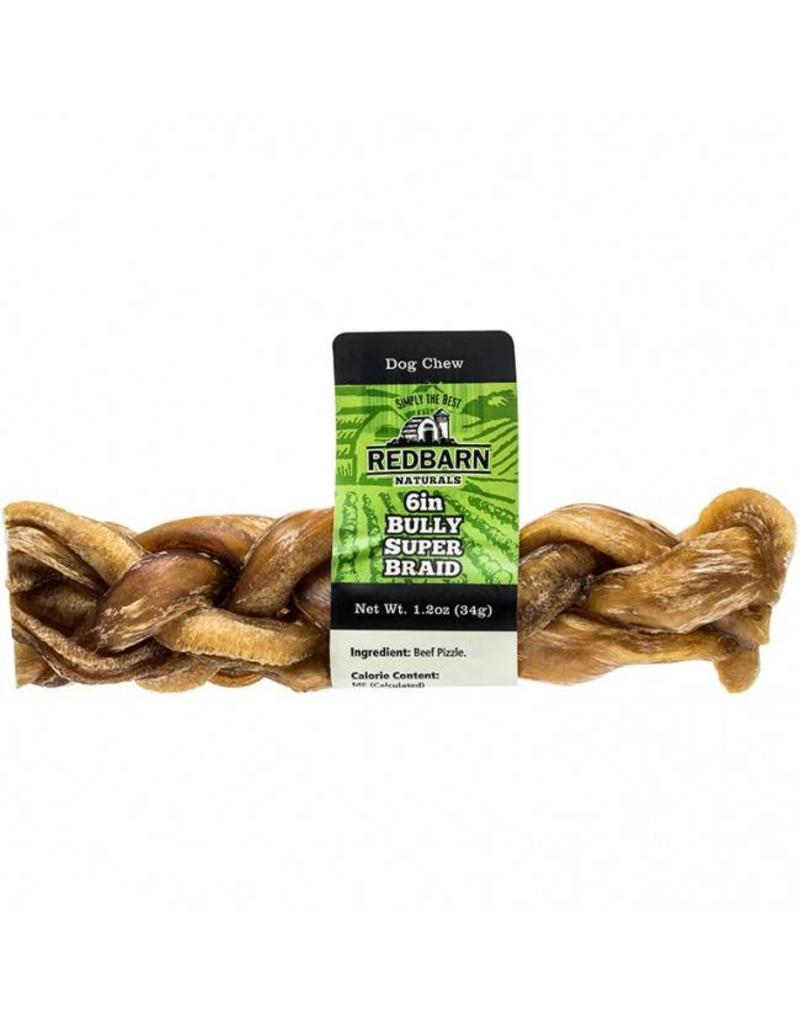 "Red Barn Red Barn Dog Bully Sticks  6"" Bully Super Braid"