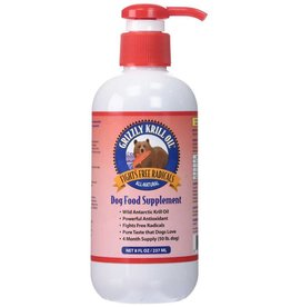 Grizzly Grizzly Wild Antarctic Krill Oil For Dogs 8 oz