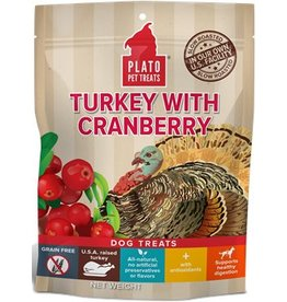 Plato Plato EOS Turkey & Cranberry Jerky Dog Treats  12 oz