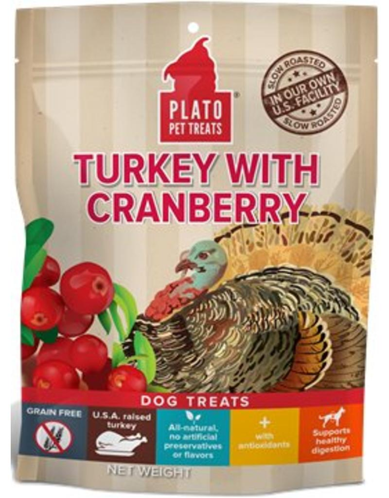 Plato Plato EOS Turkey & Cranberry Jerky Dog Treats  12 oz
