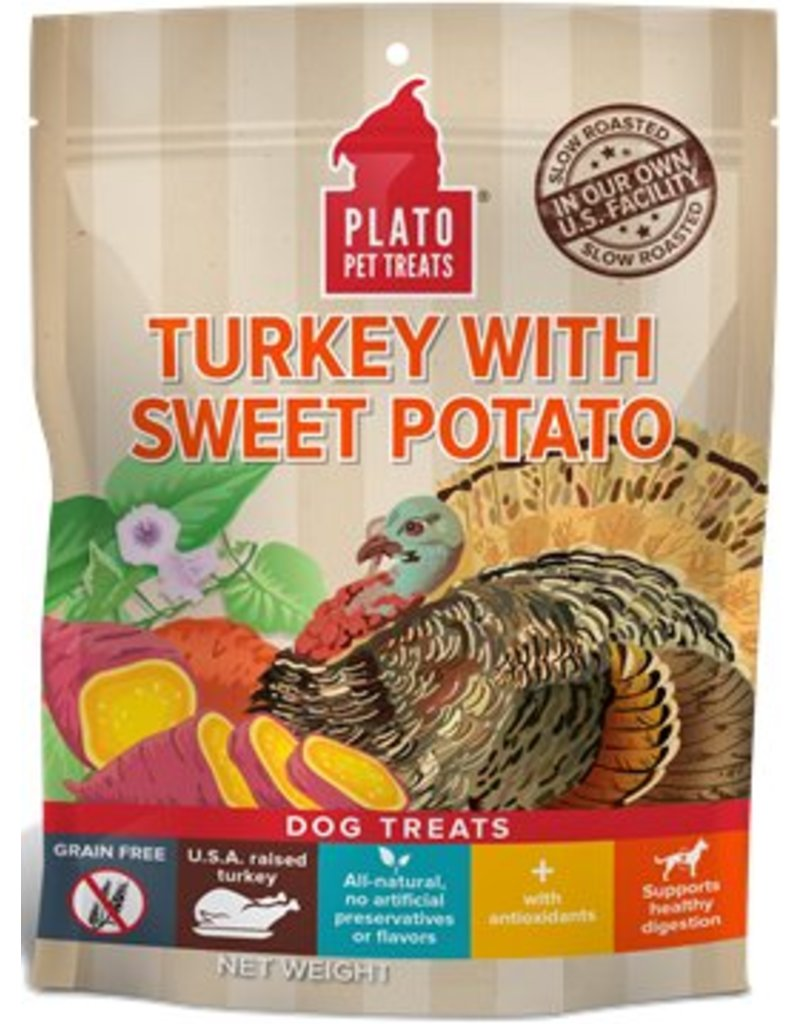 Plato Plato EOS Turkey & Sweet Potato Jerky Dog Treats  12 oz