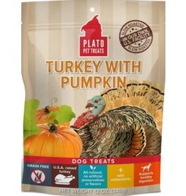 Plato Plato EOS Turkey & Pumpkin Jerky Dog Treat 12 oz