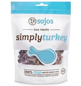 Sojo's Sojo's Freeze Dried Dog Treats  Simply Turkey 4 oz
