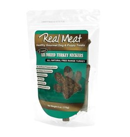 Real Meat Real Meat Dog Jerky Treats Air Dried Turkey Neckers 6 oz