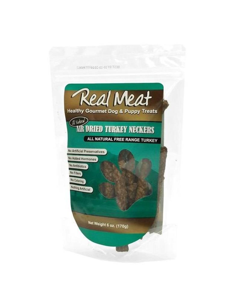 Real Meat Dog Jerky Treats Air Dried Turkey Neckers 6 oz