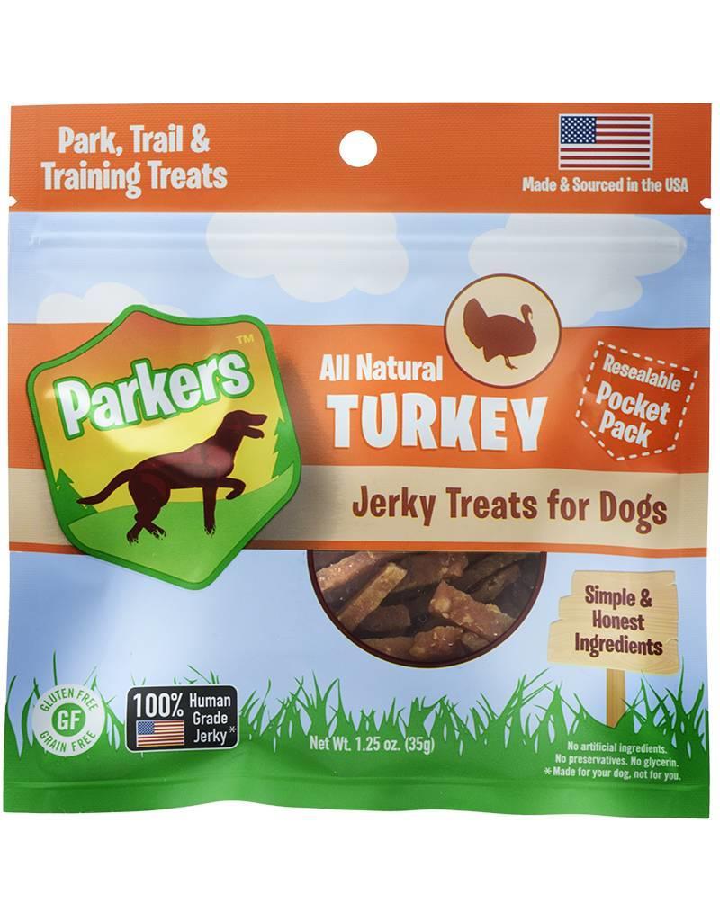 Presidio Natural Pet Co Parkers Jerky Treats Turkey 1.25 oz