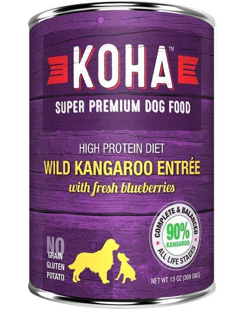 Koha Koha Canned Dog Food Kangaroo Entree 13 oz single