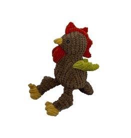 HuggleHounds HuggleHounds Toys Corduroy Rooster Knottie Large