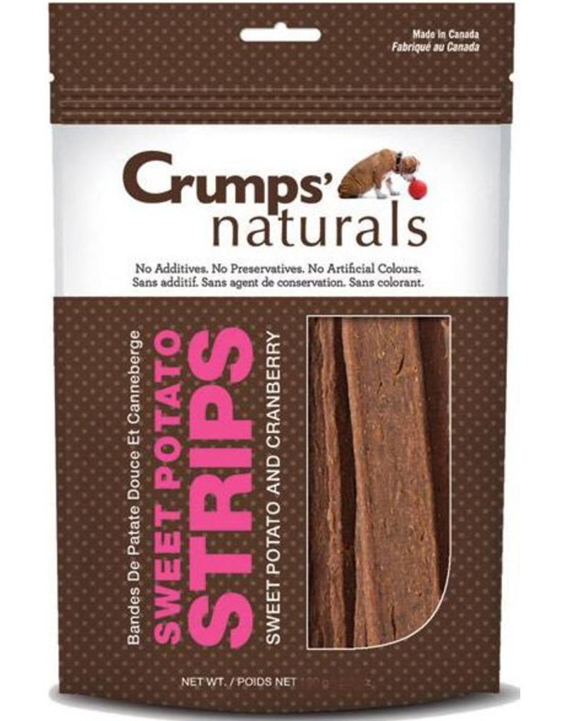 Earth Animal Crumps Naturals Dog Treats Sweet Potato & Cranberry Strips 6.3 oz