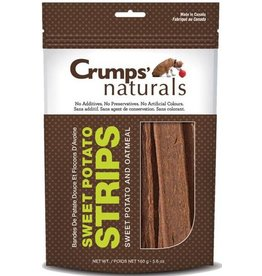 Earth Animal Crumps Naturals Dog Treats Oatmeal and Sweet Potato Strips 5.6 oz