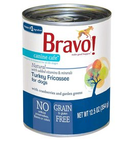 Bravo Bravo Dog Cans Turkey Fricassee 12.5 oz single