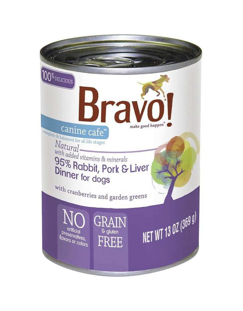 Bravo Canned Dog Food Rabbit Pork Liver 13 Oz The Pet Beastro