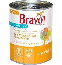 Bravo Bravo Canned Dog Food  Chicken & Liver 13 oz