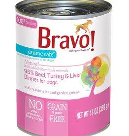 Bravo Bravo Canned Dog Food  Beef, Turkey, Liver 12.5 oz